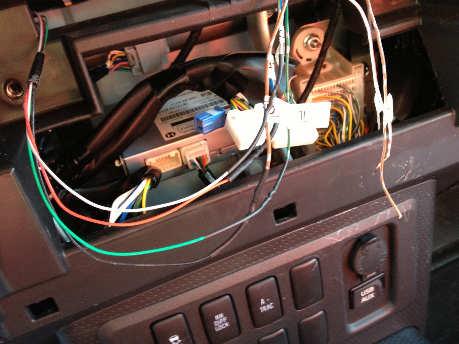 Toyota Fj Stereo Wiring Diagram 31 Images Cruiser Ohc 1271 Outback Roof Console Full Install Page 5 Forum 2010 The Illumination Wires